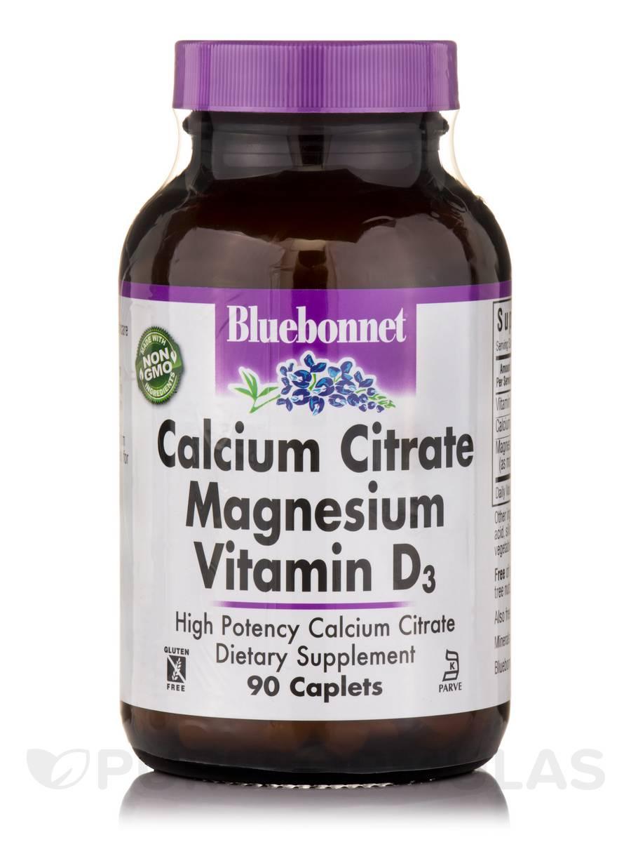 Calcium Citrate Magnesium Plus Vitamin D3 - 90 Caplets