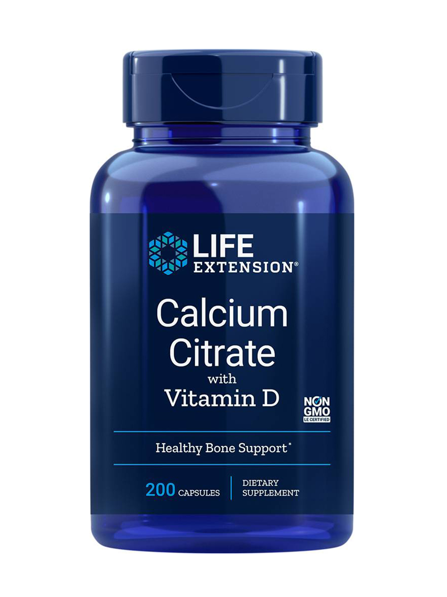 Calcium Citrate with Vitamin D - 200 Vegetarian Capsules