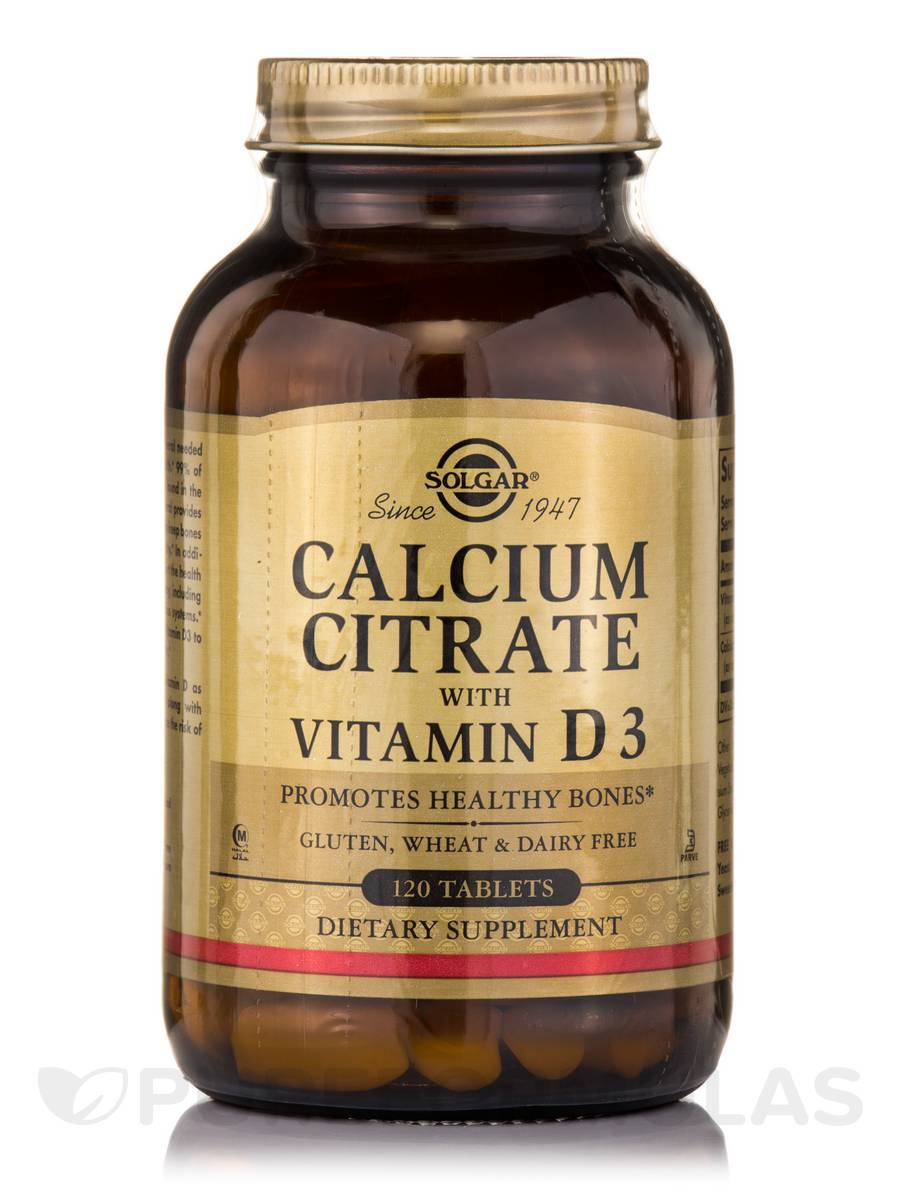 Calcium Citrate with Vitamin D3 - 120 Tablets