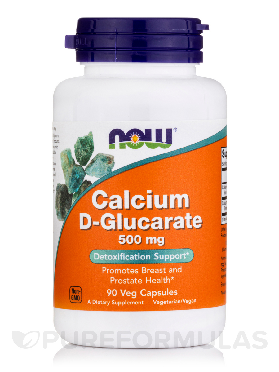 Calcium D-Glucarate 500 mg - 90 Veg Capsules