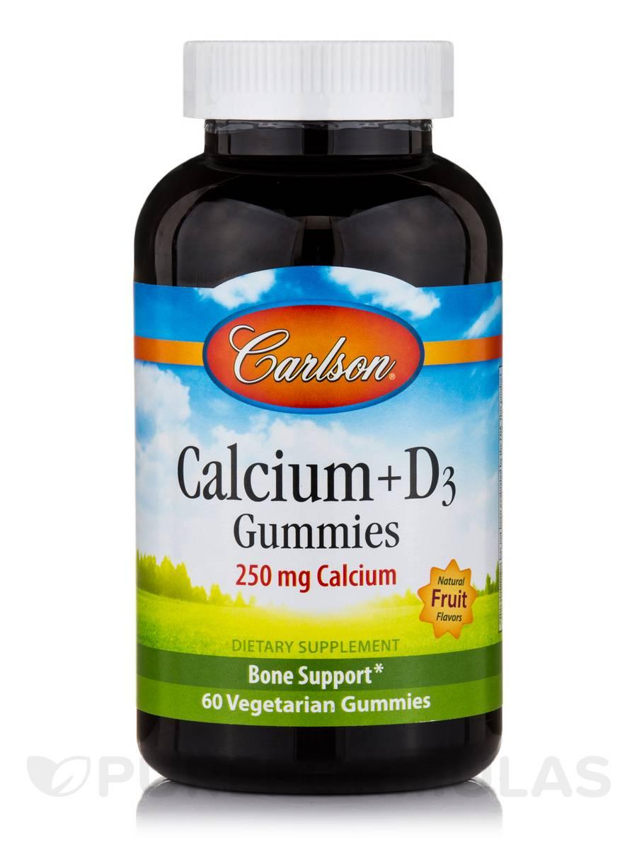 Calcium + D3 Gummies, Natural Fruit Flavors - 60 Vegetarian Gummies