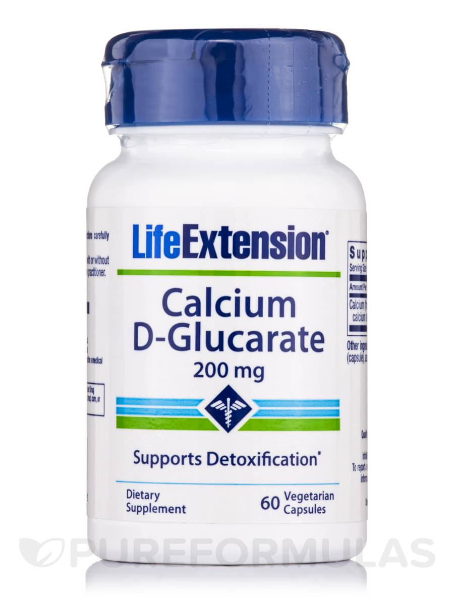 Calcium D-Glucarate 200 mg - 60 Vegetarian Capsules