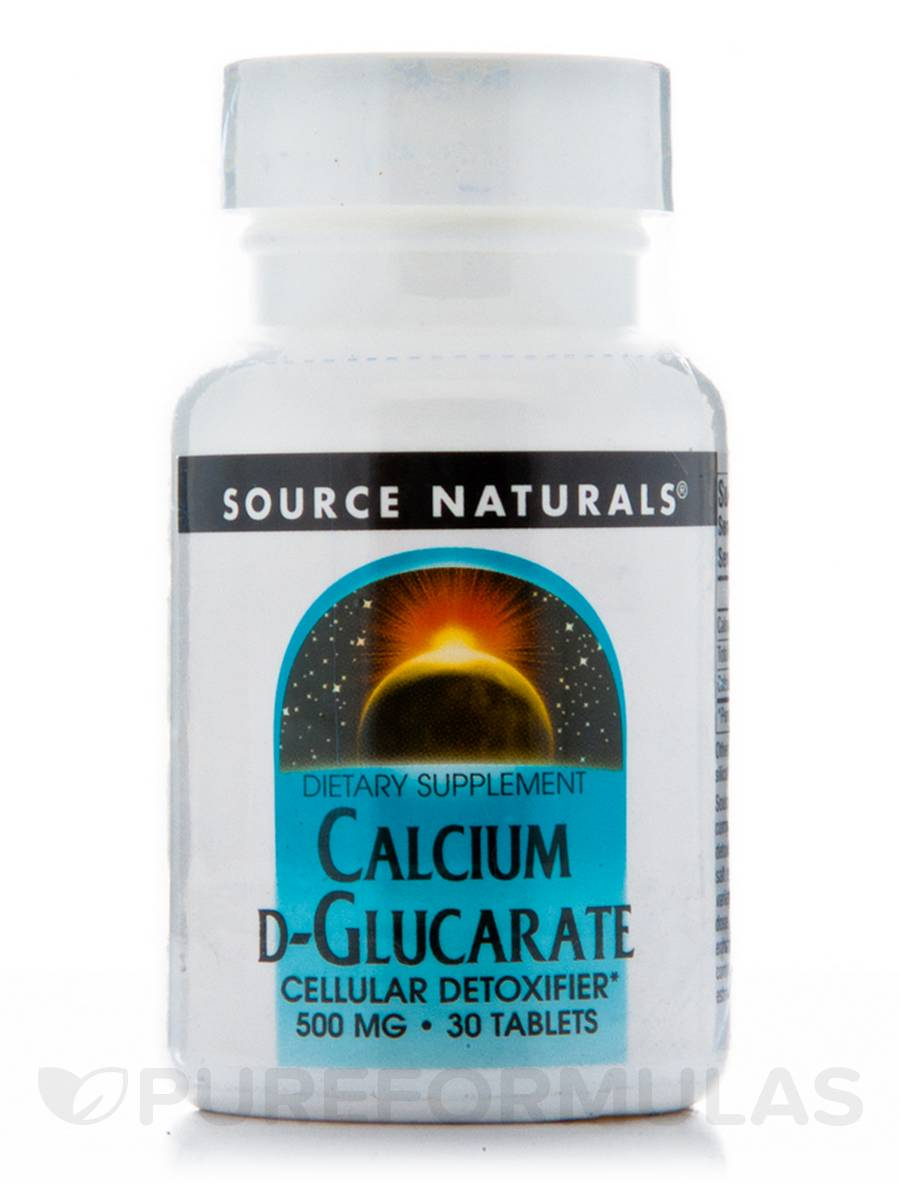Calcium D-Glucarate 500 mg - 30 Tablets