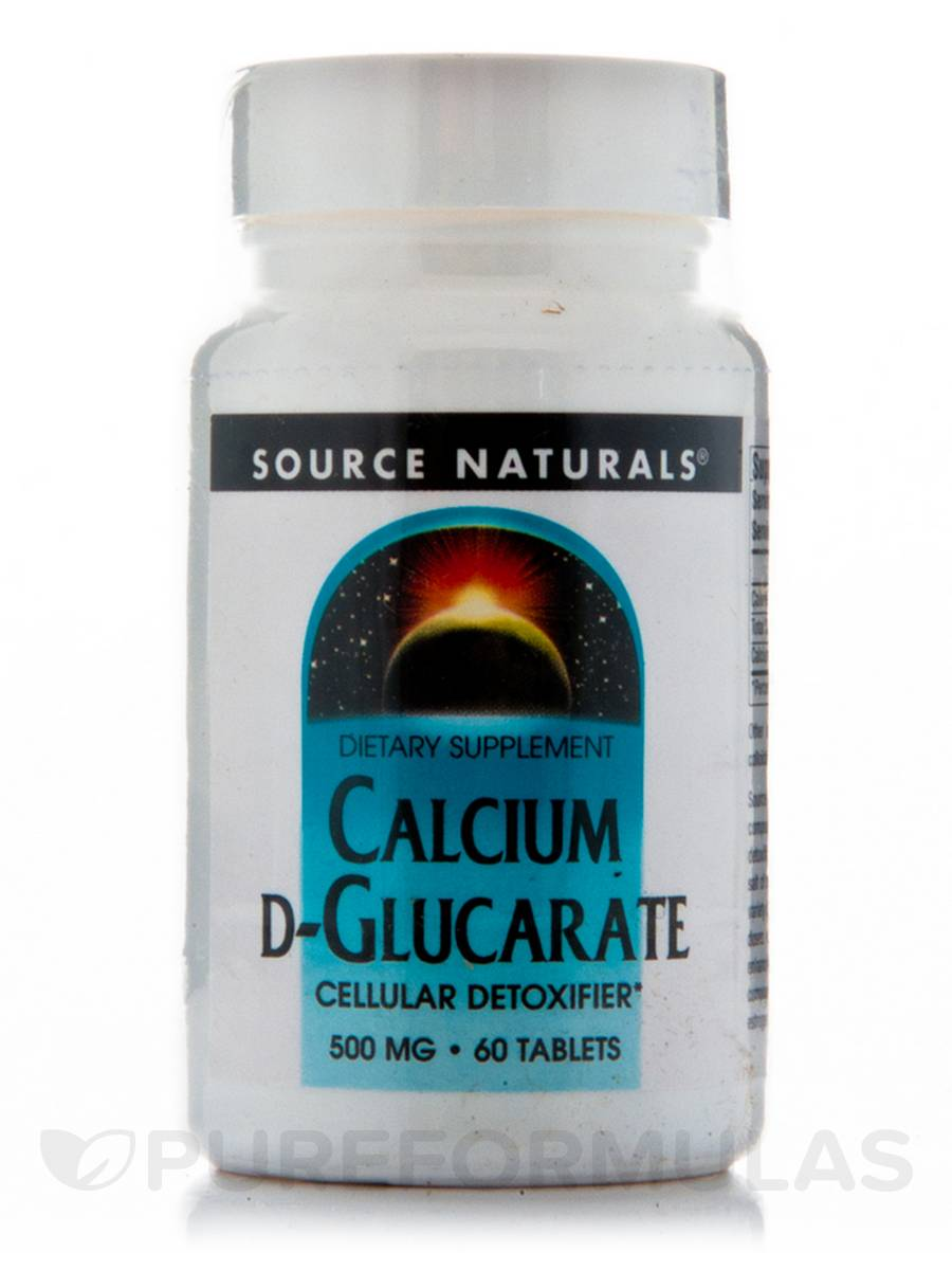 Calcium D-Glucarate 500 mg - 60 Tablets