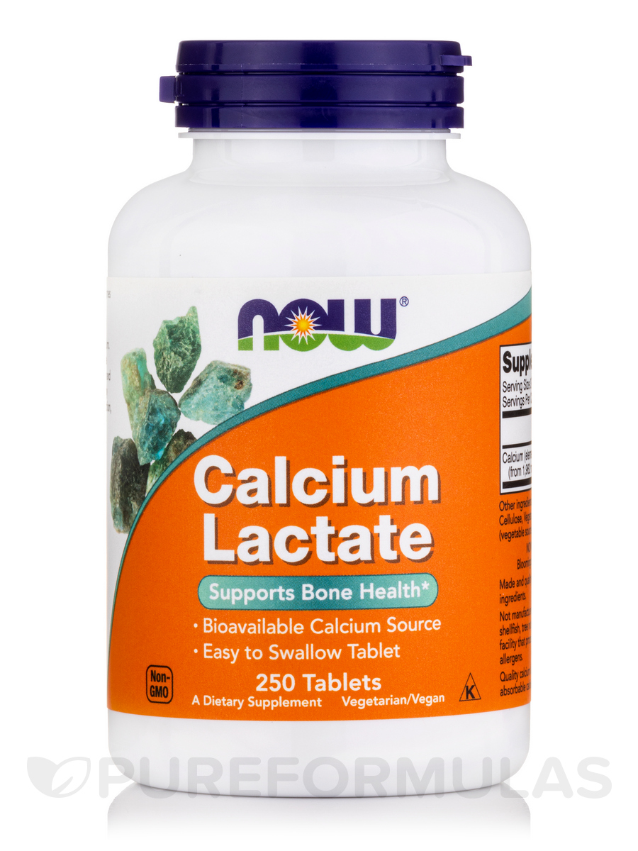 Calcium Lactate - 250 Tablets
