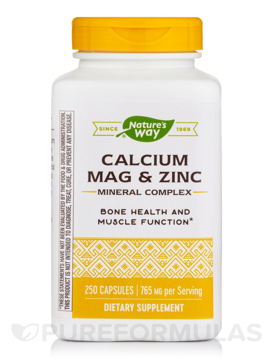 Calcium Mag & Zinc - 250 Capsules