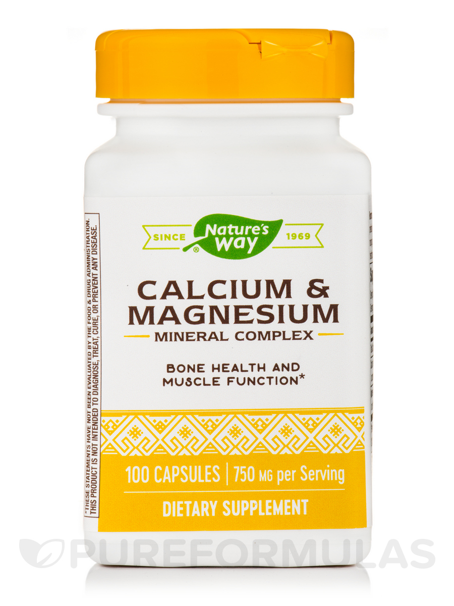 Calcium and Magnesium - 100 Capsules