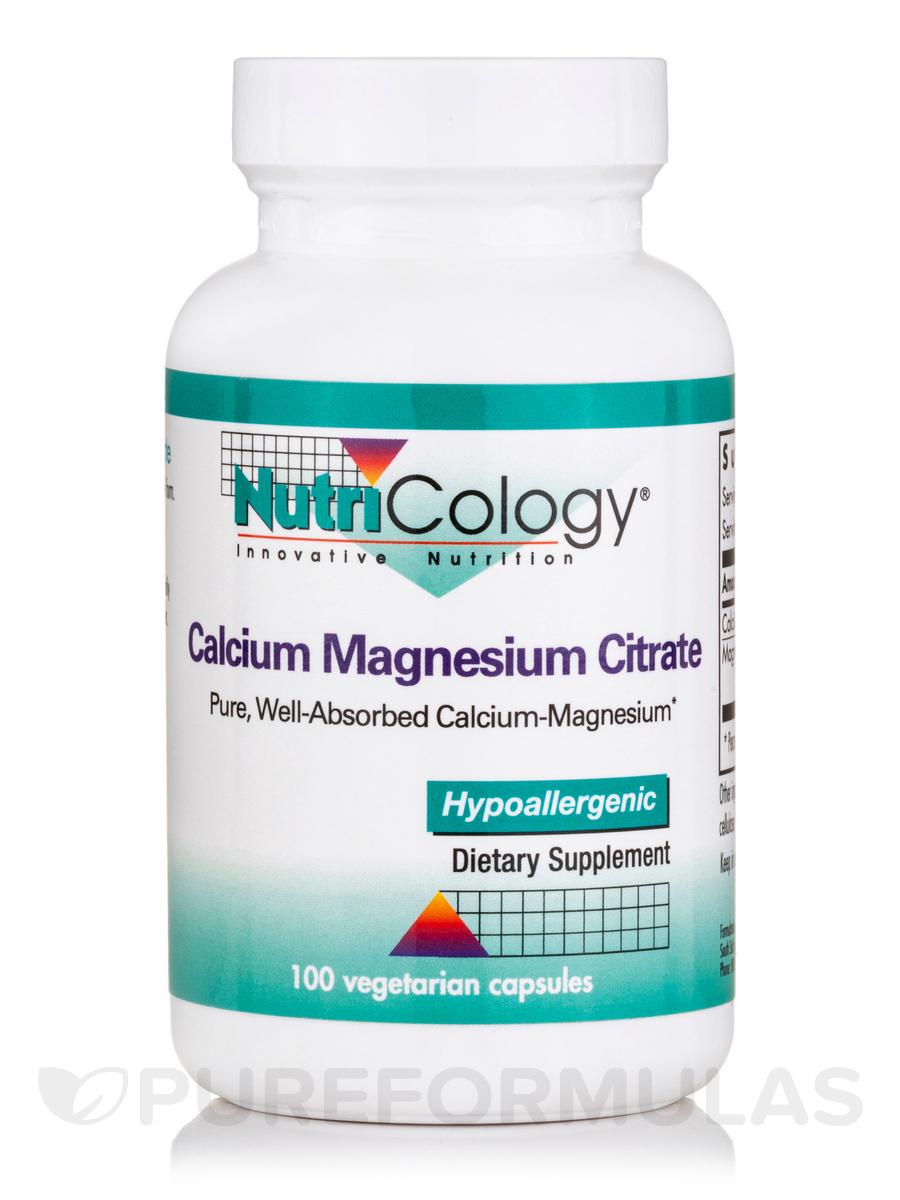 Calcium Magnesium Citrate - 100 Vegetarian Capsules