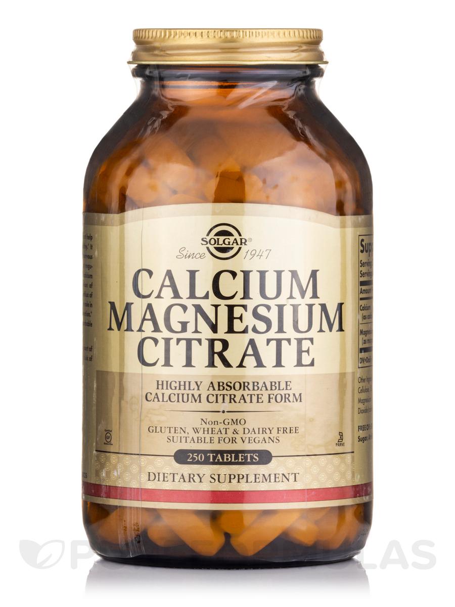 Calcium Magnesium Citrate - 250 Tablets
