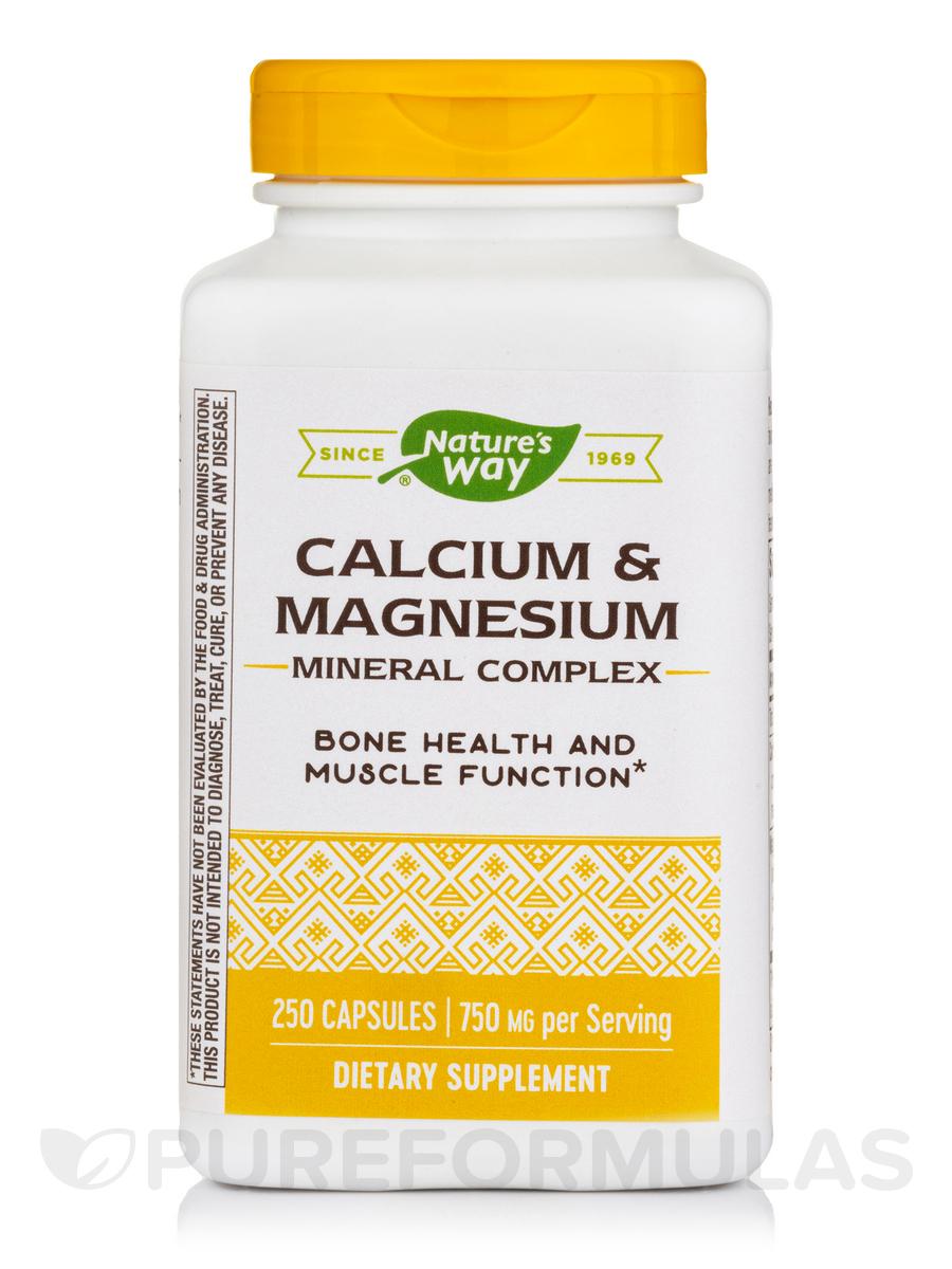 Calcium & Magnesium Mineral Complex - 250 Capsules