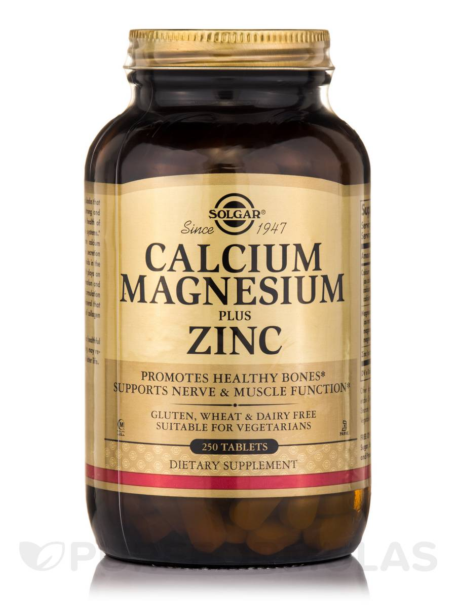 Calcium Magnesium Plus Zinc - 250 Tablets