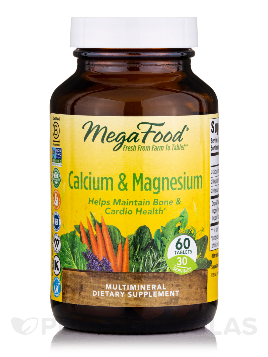 Calcium and Magnesium - 60 Tablets