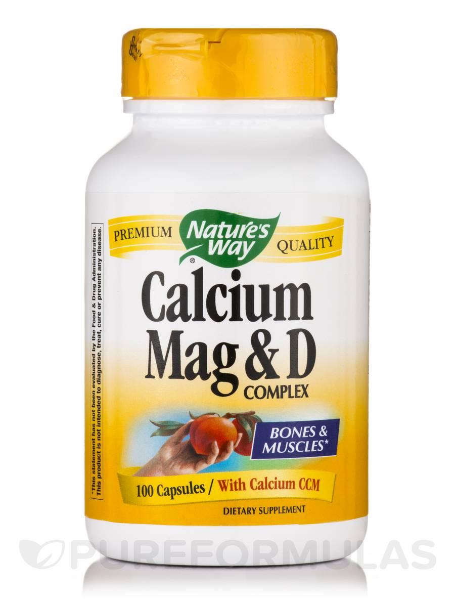 Calcium-Magnesium-Vitamin D - 100 Capsules