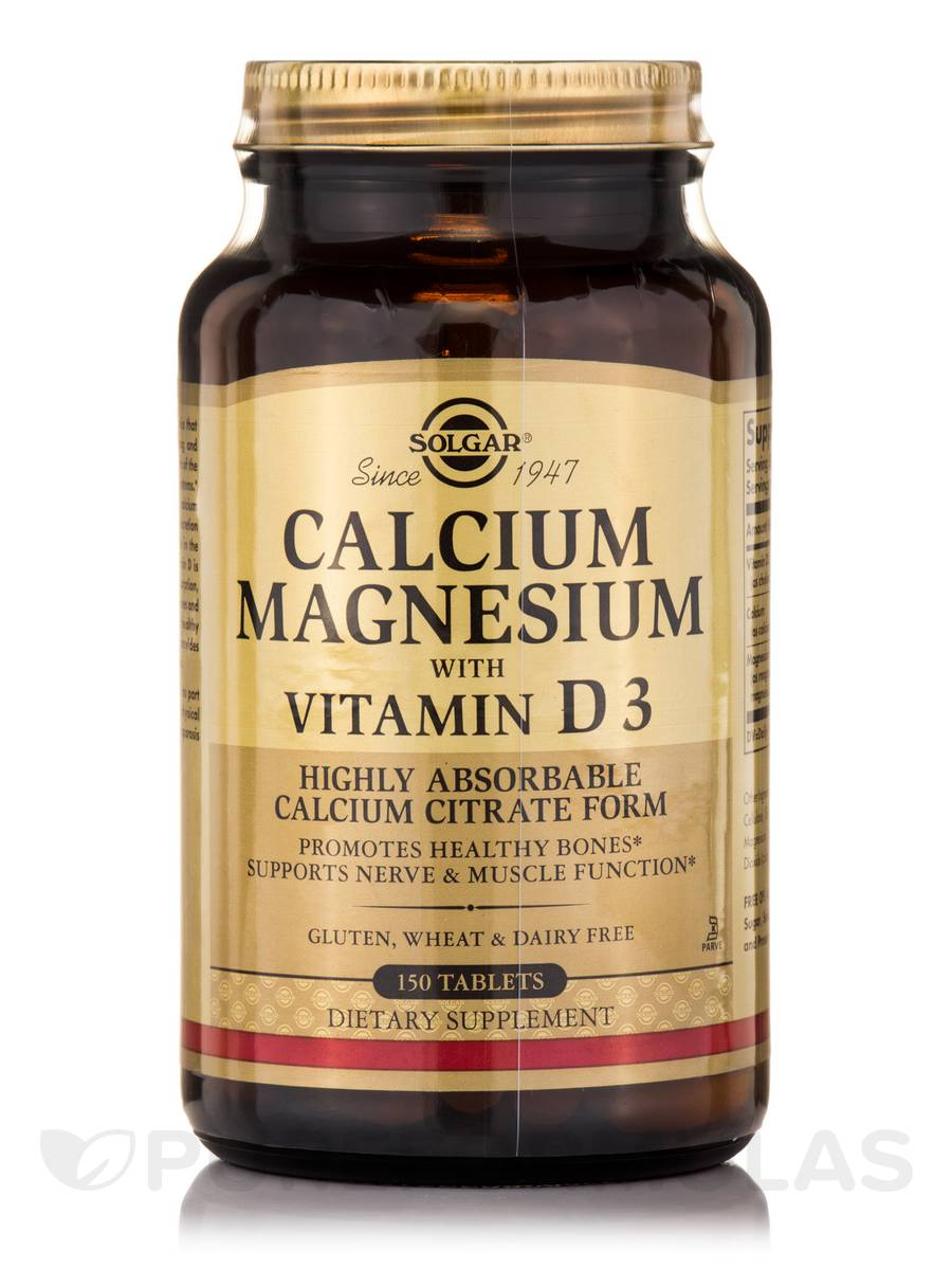 Calcium Magnesium with Vitamin D3 - 150 Tablets