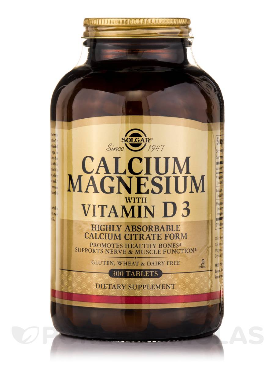 Calcium Magnesium with Vitamin D3 - 300 Tablets