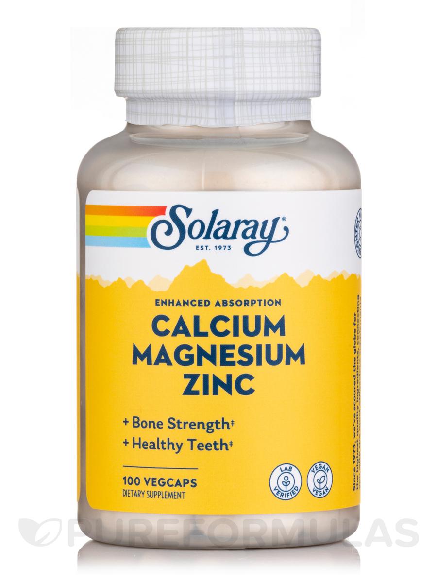 Calcium, Magnesium, Zinc - 100 Vegetarian Capsules