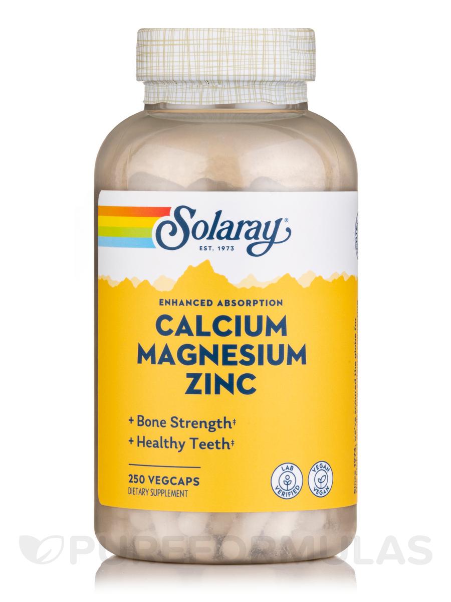 Calcium, Magnesium, Zinc - 250 Vegetarian Capsules