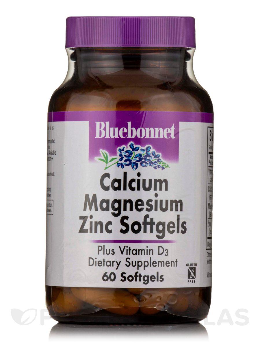 Calcium Magnesium Zinc Plus Vitamin D3 - 60 Softgels
