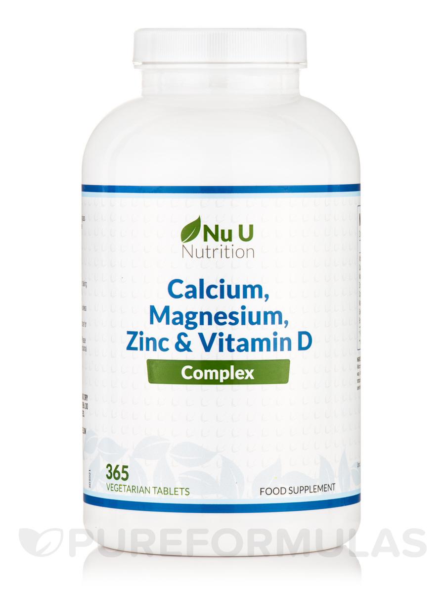 Calcium, Magnesium, Zinc & Vitamin D Complex - 365 Vegetarian Tablets