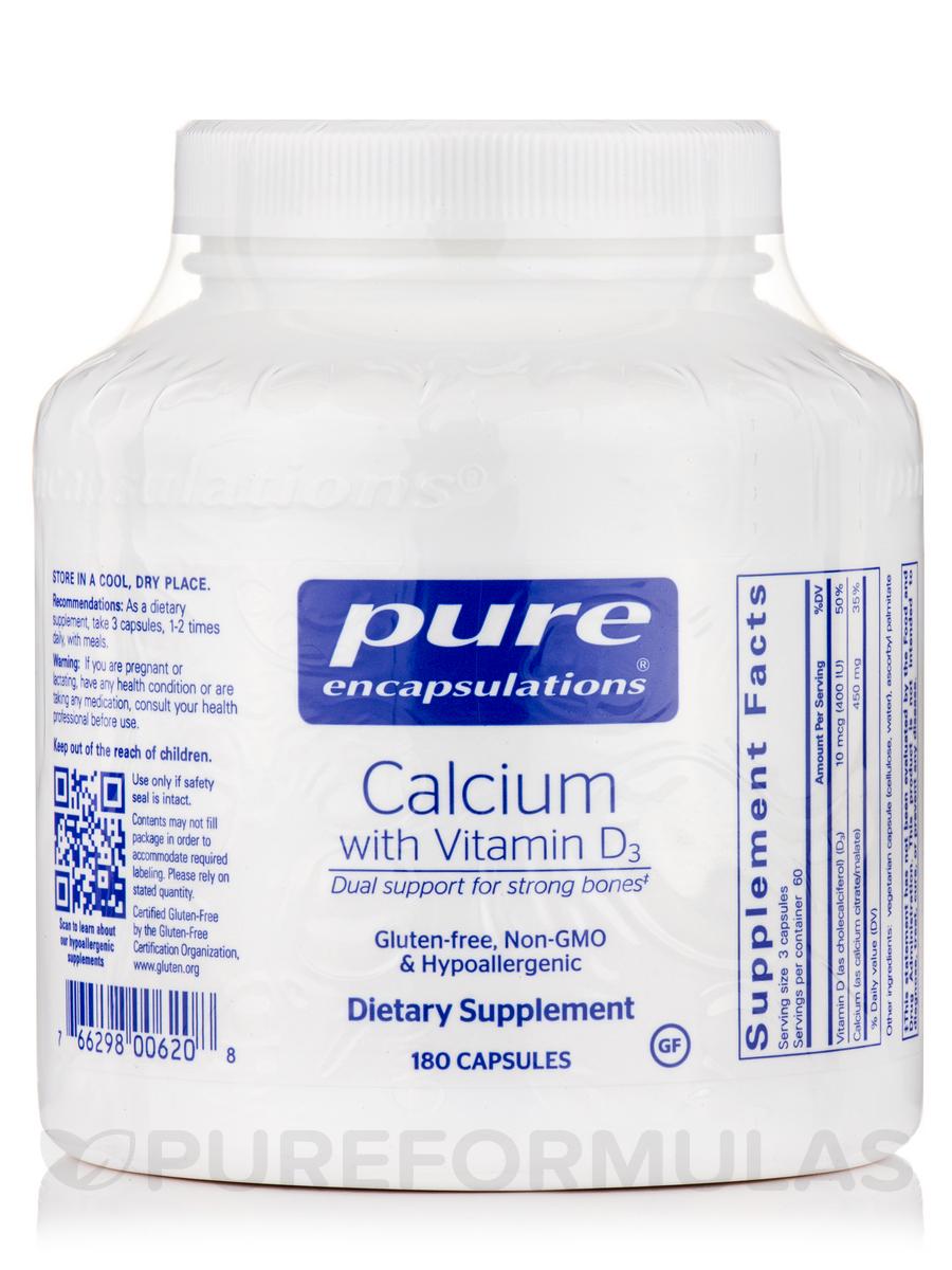 Calcium with Vitamin D3 - 180 Capsules