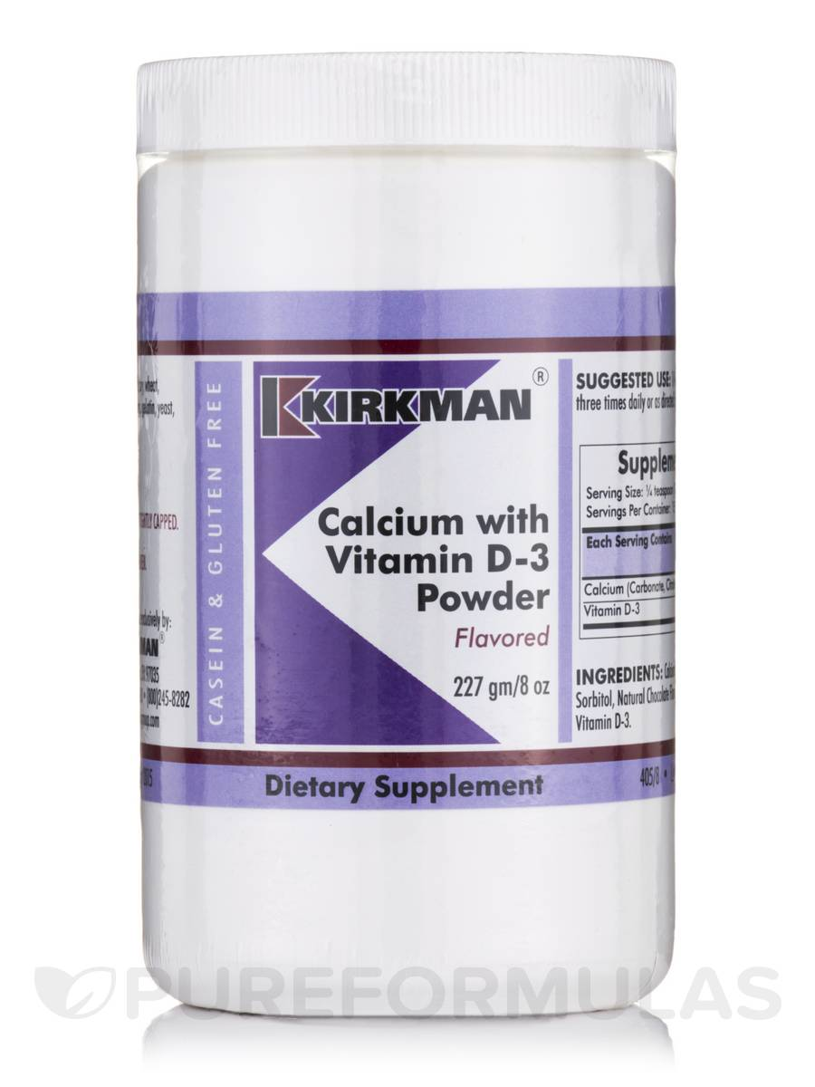 Calcium with Vitamin D3 Flavored Powder - 8 oz (227 Grams)