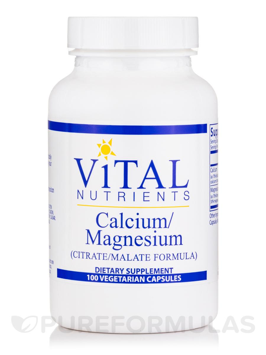 Calcium/Magnesium (Citrate/Malate Formula) - 100 Vegetarian Capsules