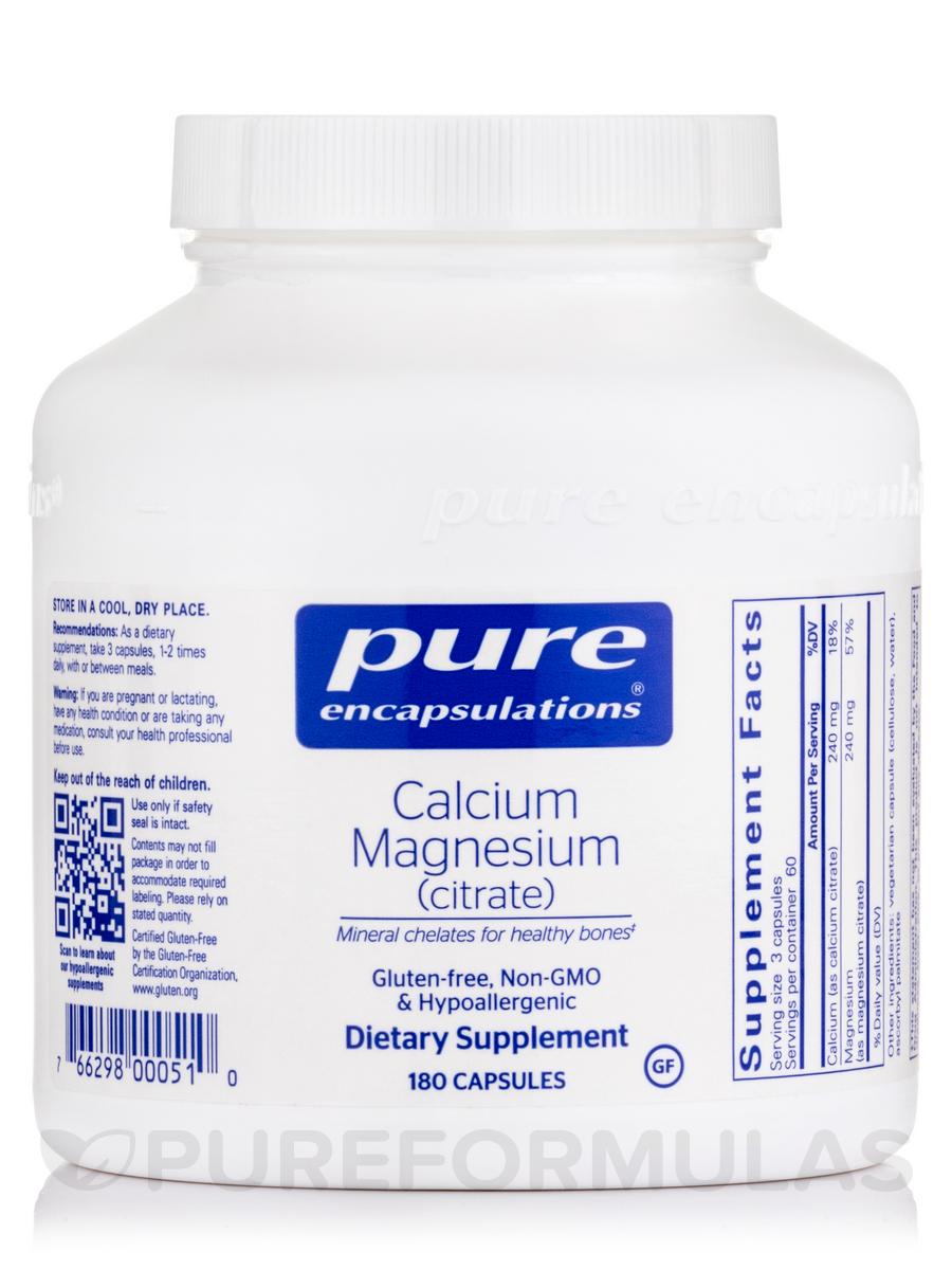 Calcium Magnesium (Citrate) - 180 Capsules