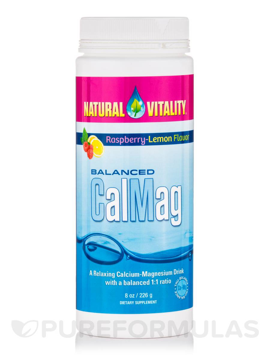 Balanced CalMag, Raspberry-Lemon Flavor - 8 oz (226 Grams)