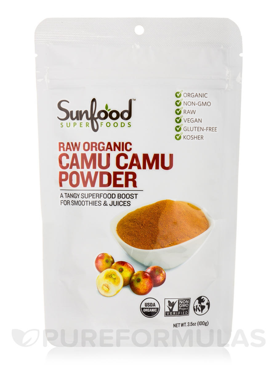 Camu Camu Powder, Organic, Raw - 3.5 oz (100 Grams)