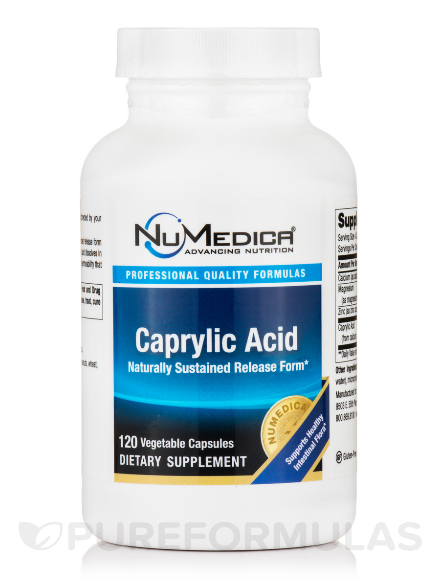 Caprylic Acid - 120 Vegetable Capsules
