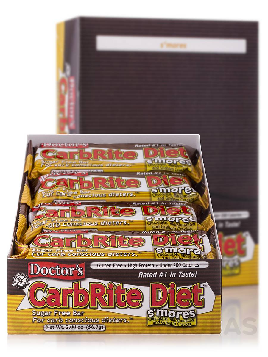 CarbRite Bar S'mores - Box of 12 Bars