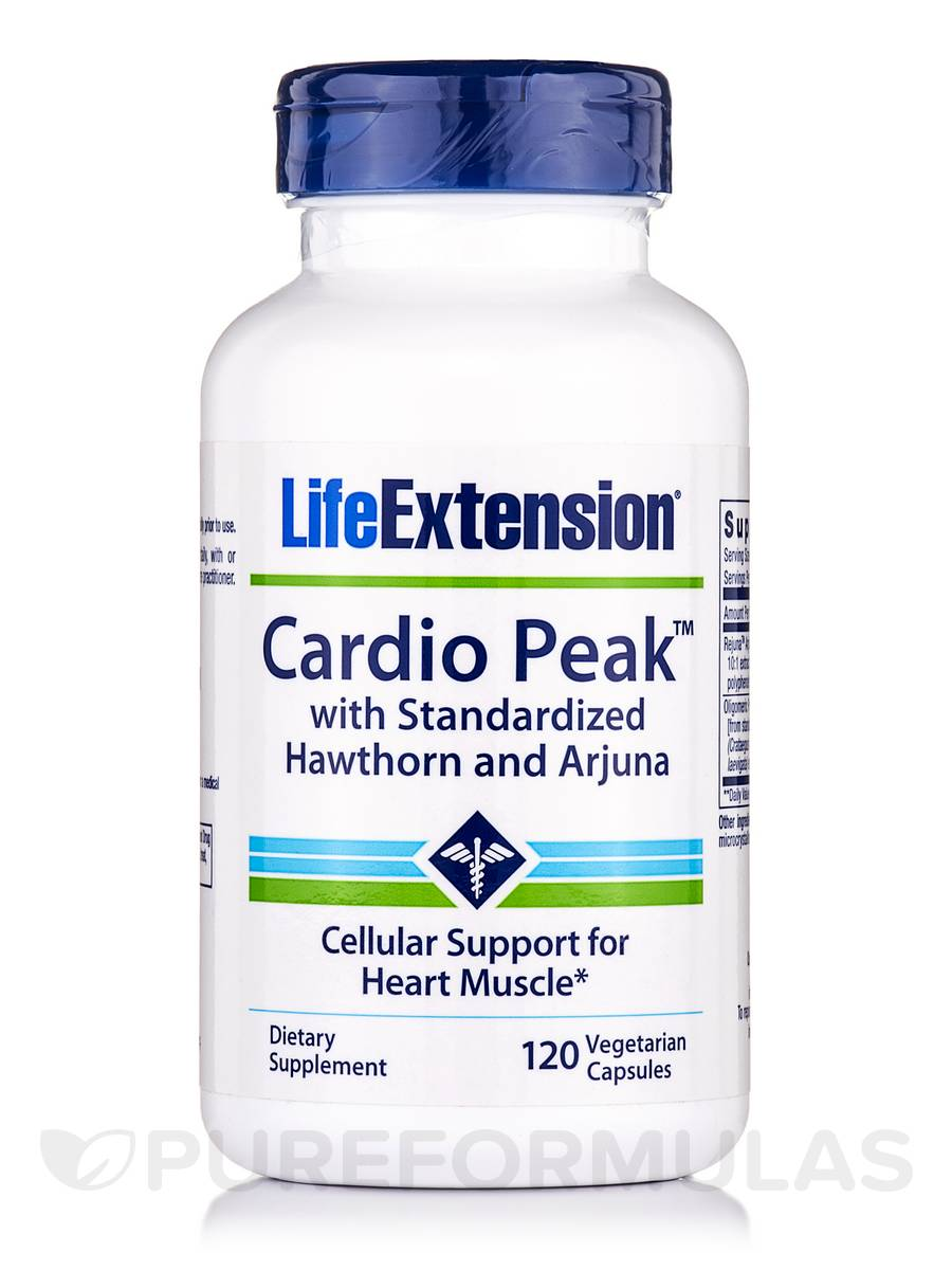 Cardio Peak With Standarized Hawthorne and Arjuna - 120 Vegetarian Capsules