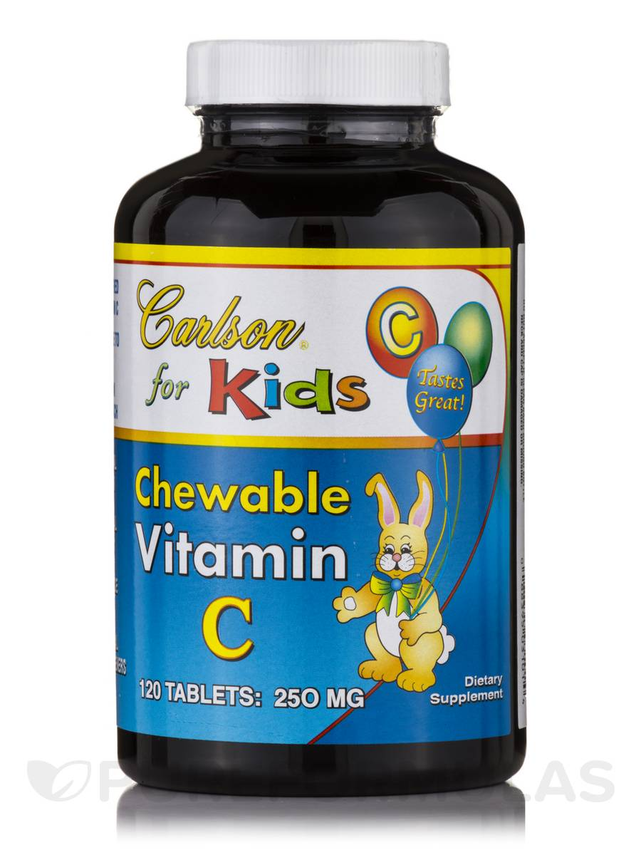 Carlson for Kids Chewable Vitamin C 250 mg - 120 Tablets