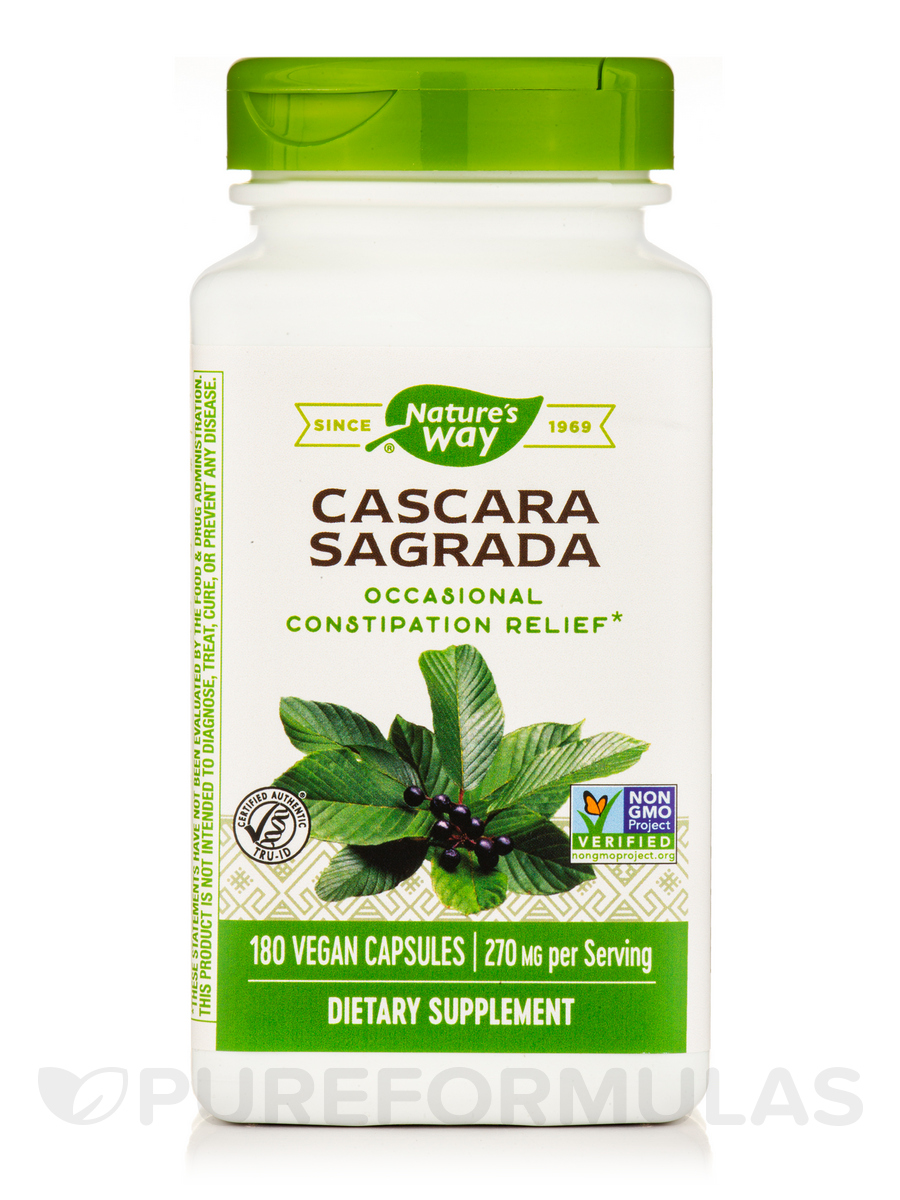 Cascara Sagrada Aged Bark - 180 VCaps