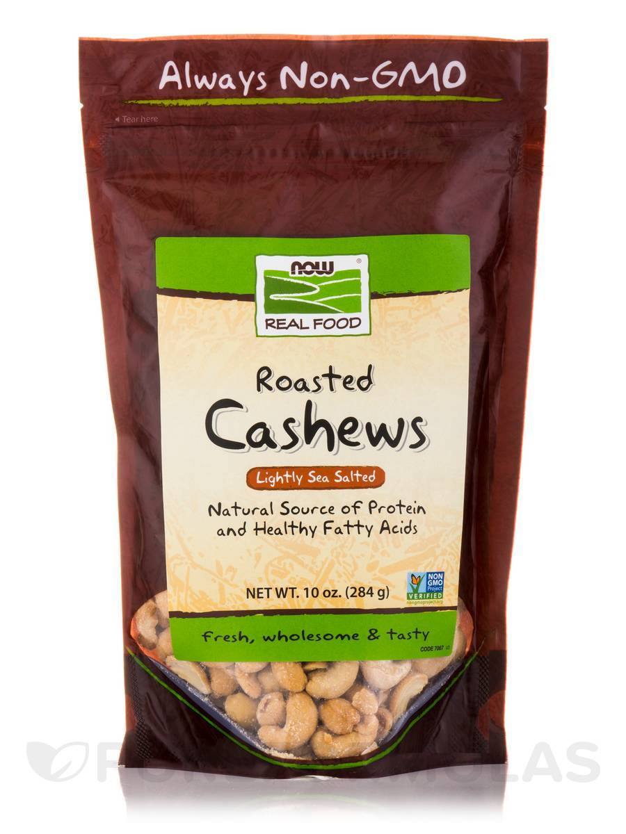 NOW® Real Food - Cashews (Roasted & Lightly Sea Salted) - 10 oz (284 Grams)