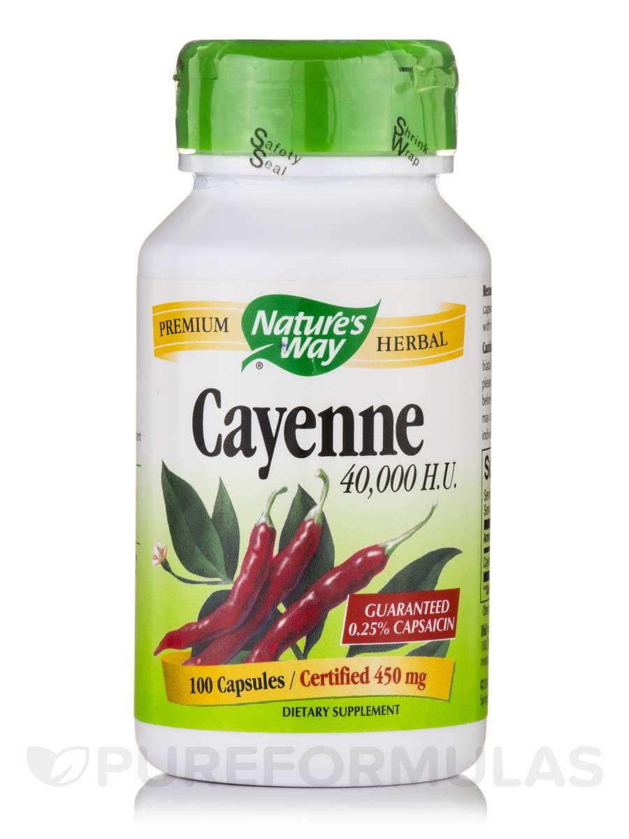 Cayenne 40000 H.U. 450 mg - 100 Capsules