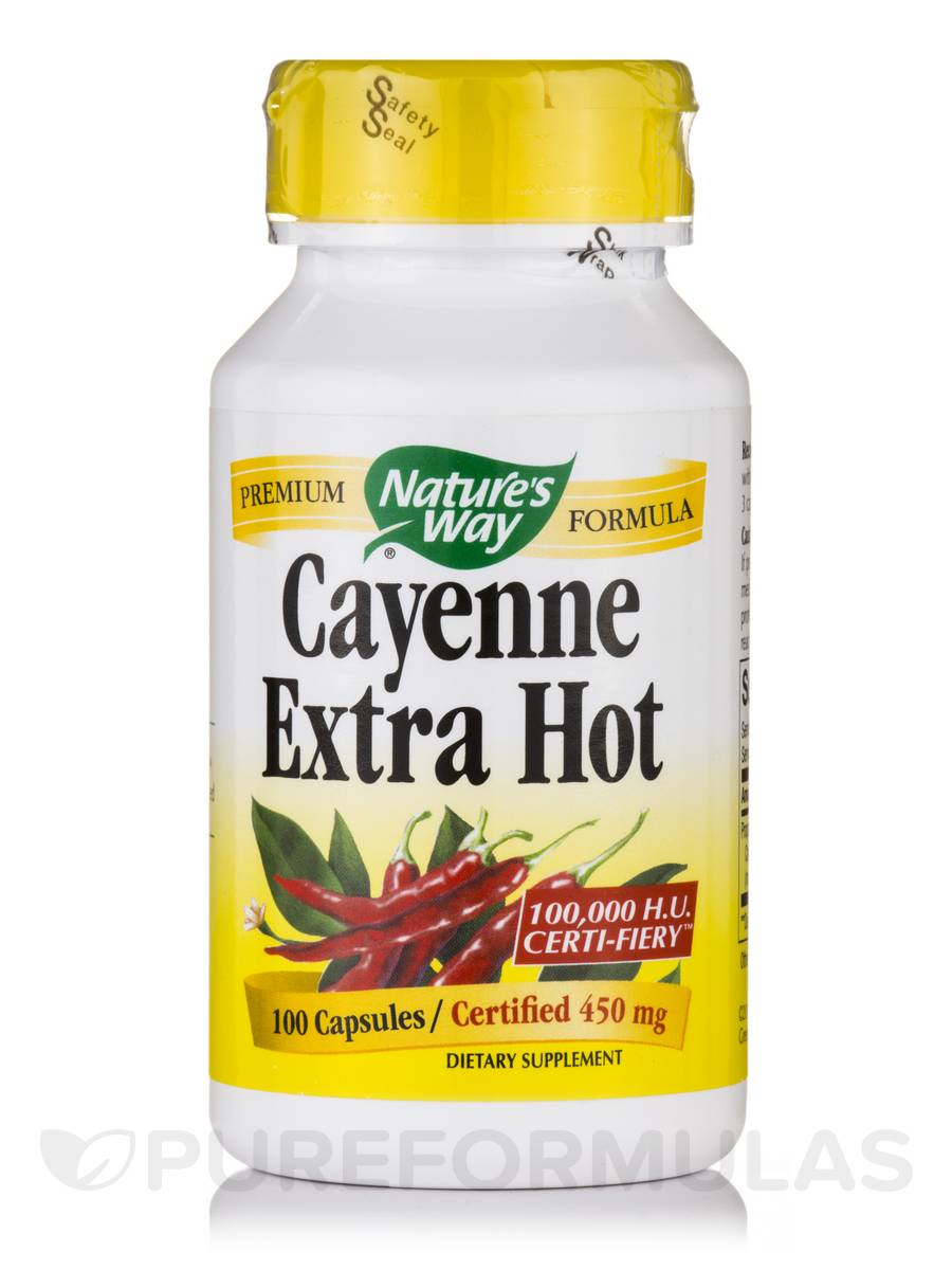 Cayenne Extra Hot 450 mg - 100 Capsules