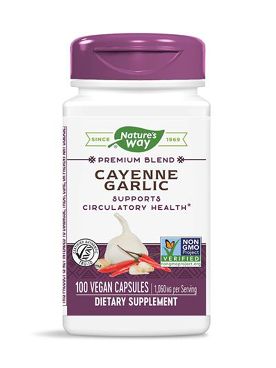 Cayenne and Garlic - 100 Capsules