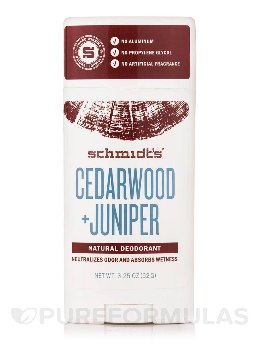 Cedarwood + Juniper Natural Deodorant Stick - 3.25 oz (92 Grams)
