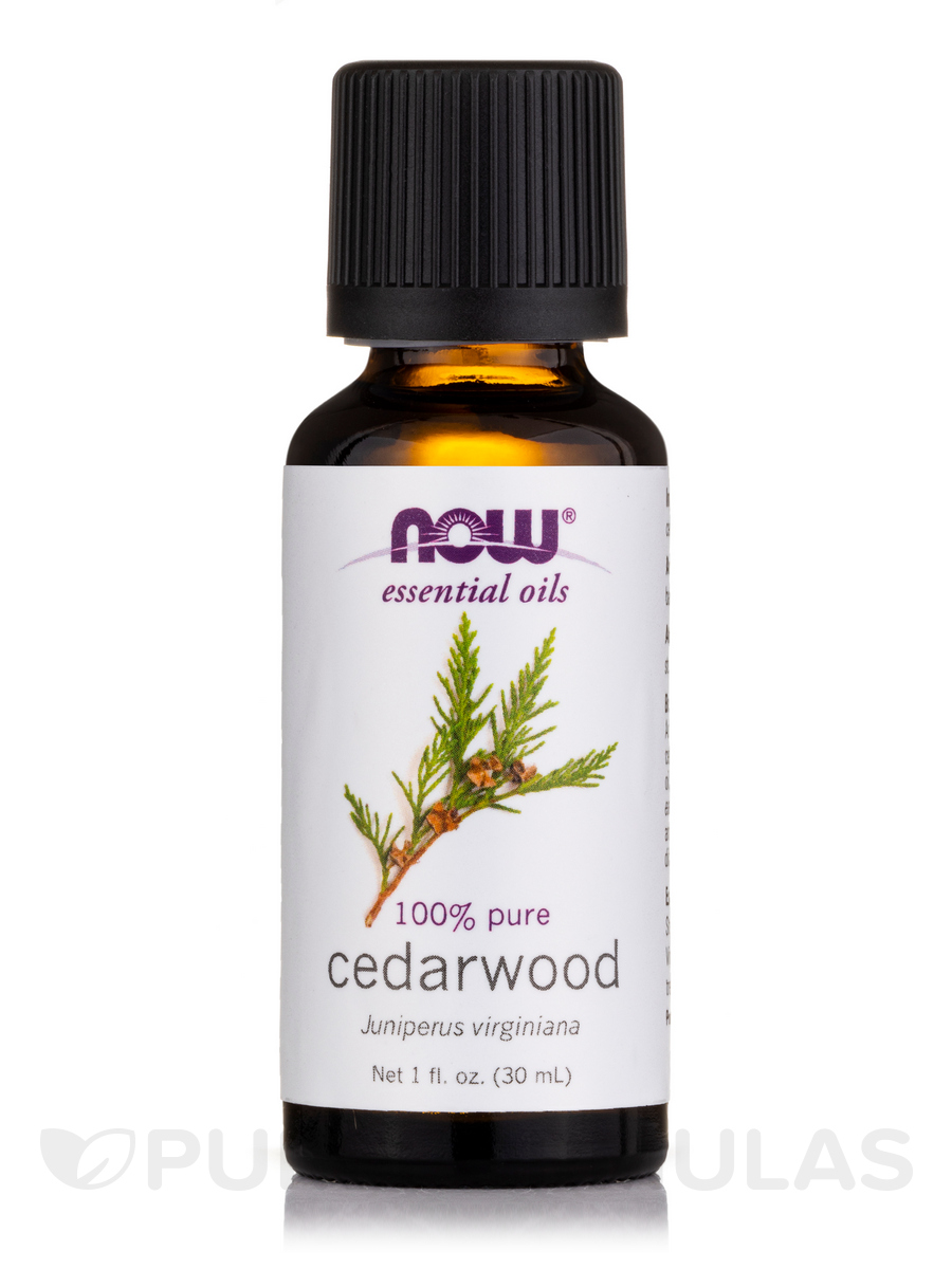 NOW® Essential Oils - Cedarwood Oil - 1 fl. oz (30 ml)
