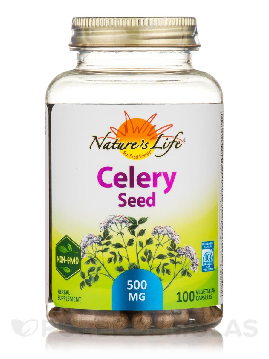 Celery Seed 500 mg - 100 Vegetarian Capsules