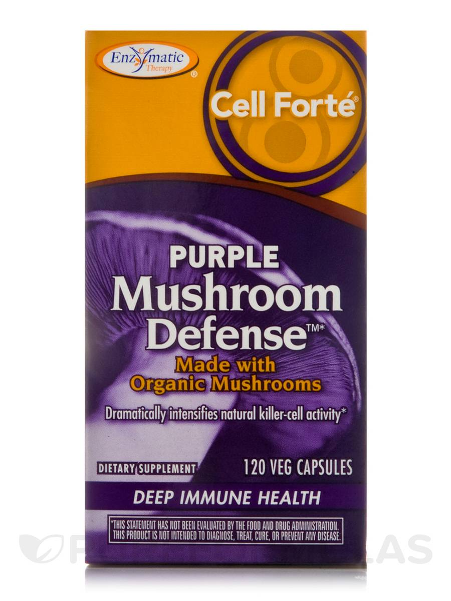 Cell Forte Purple Mushroom Defense - 120 Vegetable Capsules