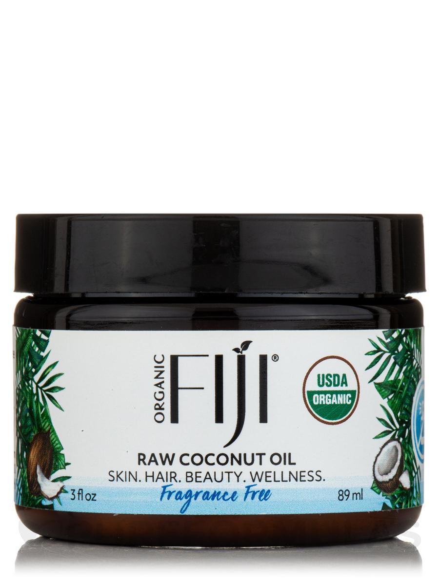 Certified Organic Whole Body Raw Coconut Oil, Fragrance Free - 3 fl. oz (89 ml)