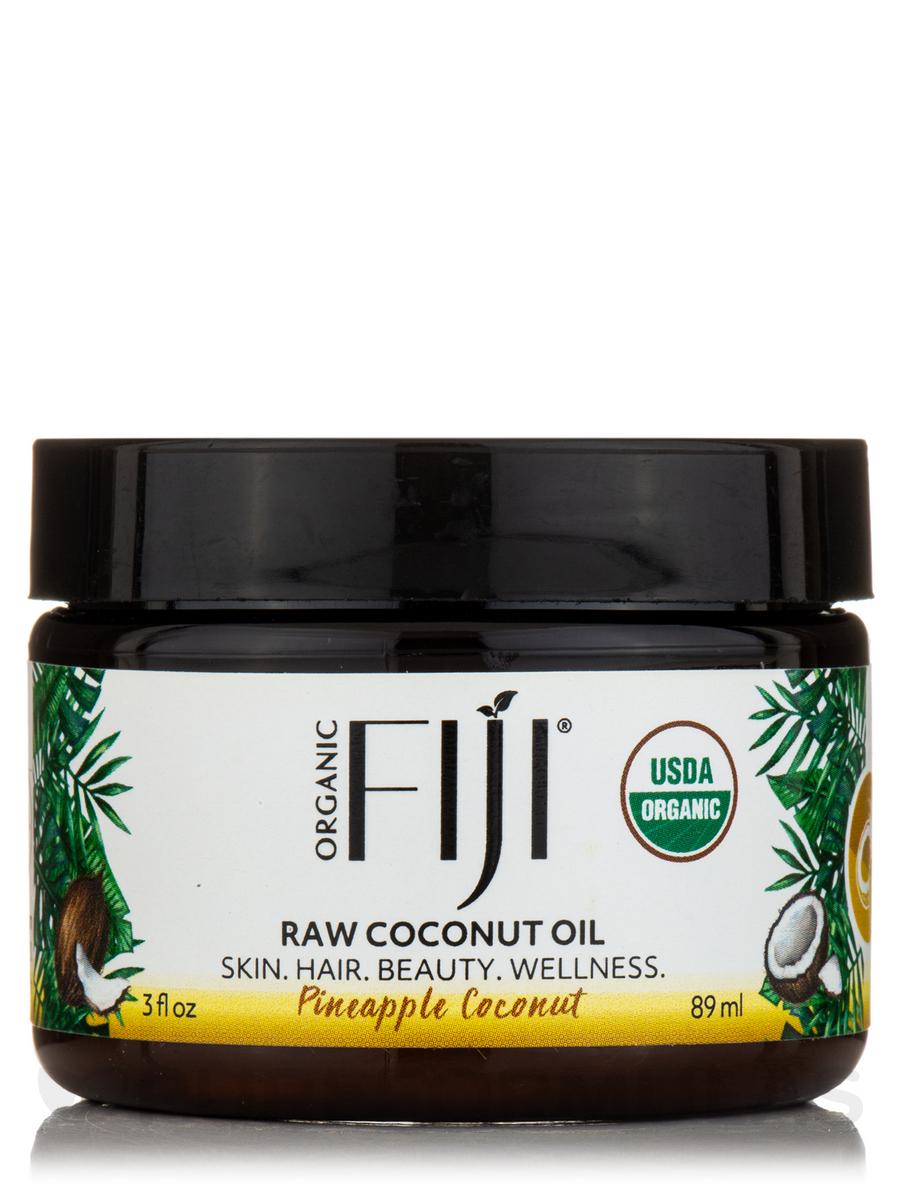 Certified Organic Whole Body Raw Coconut Oil, Pineapple Coconut - 3 fl. oz (89 ml)