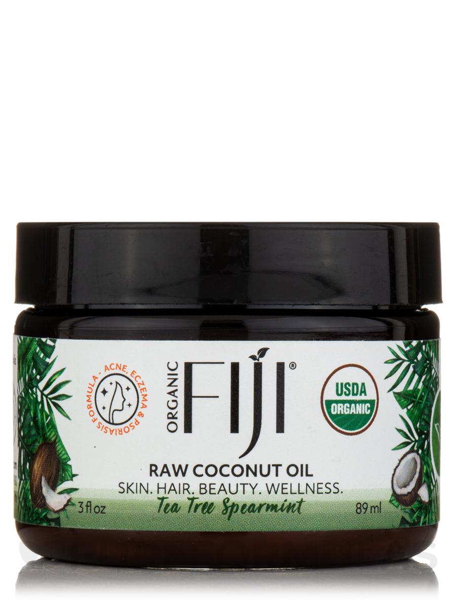 Certified Organic Whole Body Raw Coconut Oil, Tea Tree Spearmint - 3 fl. oz (89 ml)