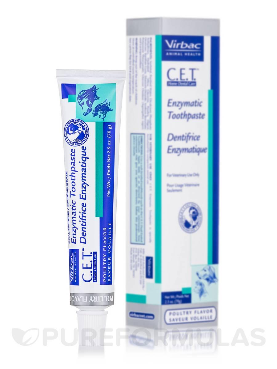 C.E.T.® Enzymatic Toothpaste, Poultry Flavor - 2.5 oz (70 Grams)
