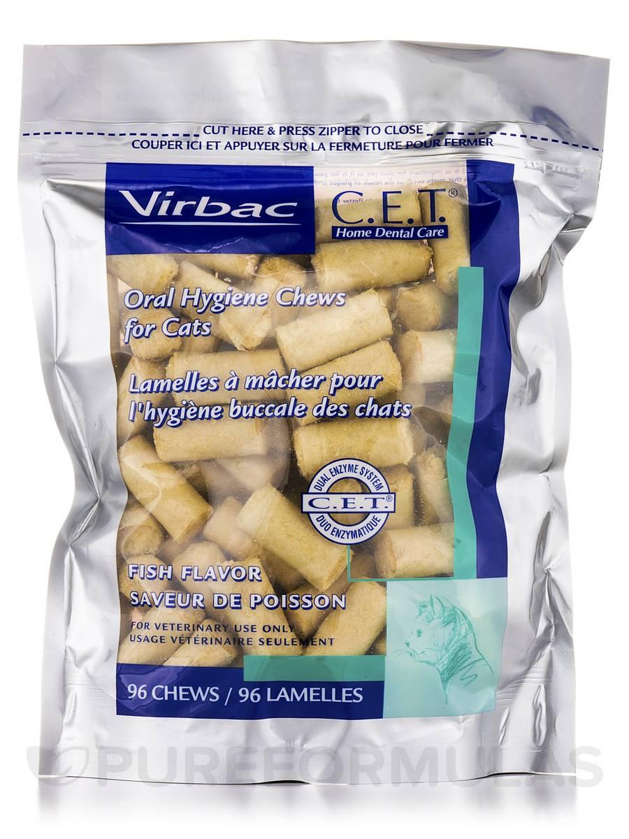 C.E.T.® Oral Hygiene Chews For Cats, Fish Flavor - 96 Chews