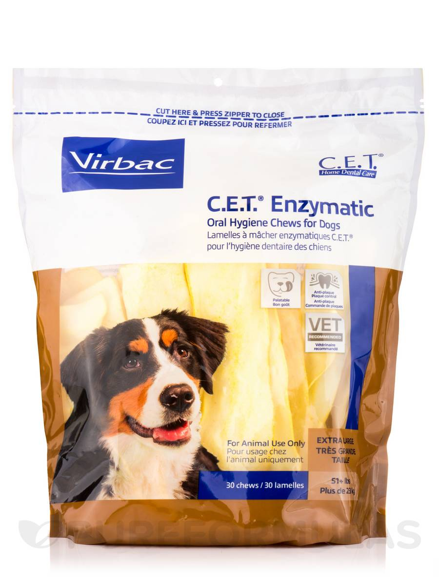 C.E.T.® Enzymatic Oral Hygiene Chews For Dogs, Extra Large (51+lbs) - 30 Chews