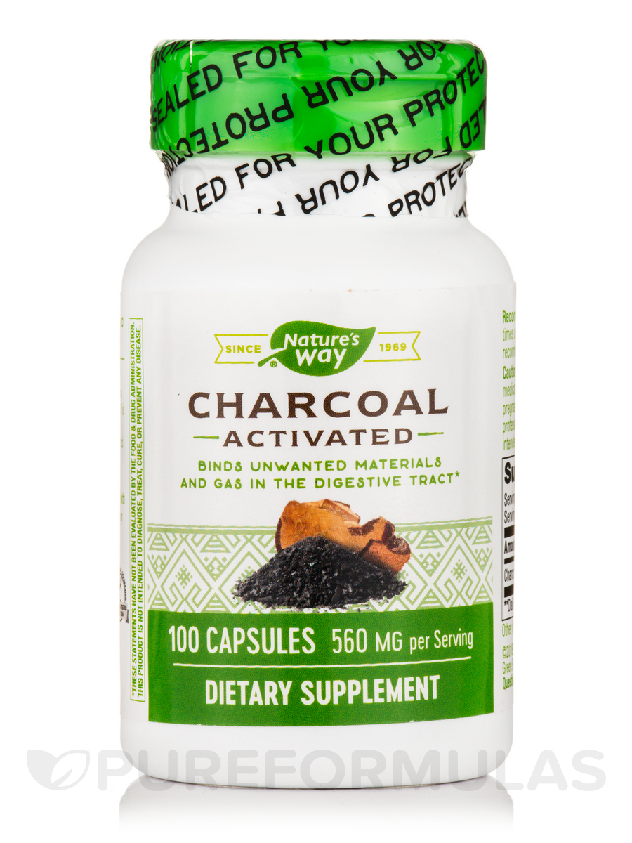 Charcoal Activated - 100 Capsules
