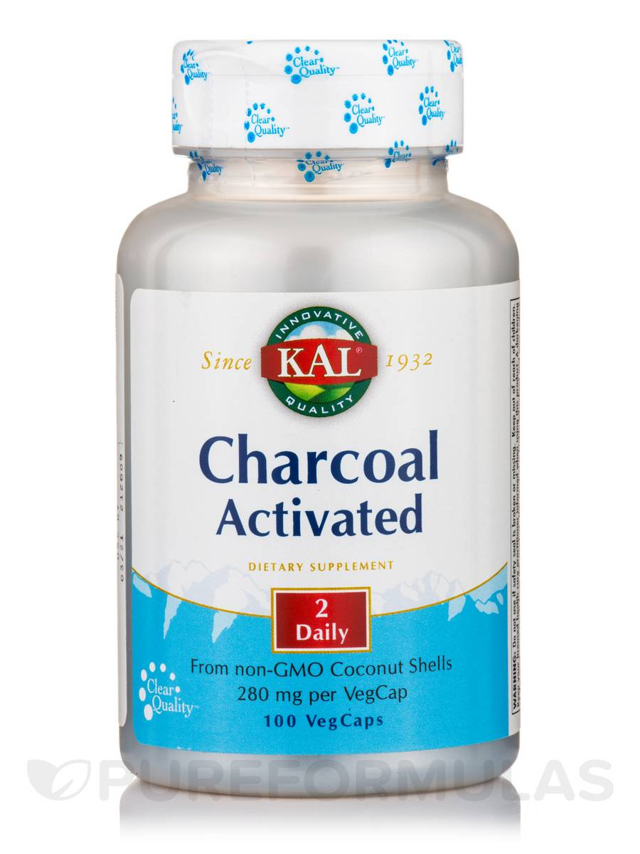 Charcoal Activated 280 mg - 100 VegCaps